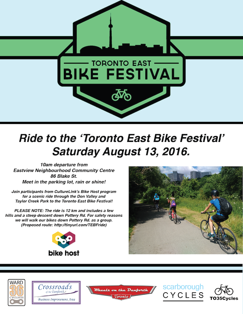 bfb7c04fcb15b Ride to the  Toronto East Bike Festival  · TEBF Group RIde Poster 2016 SMALL